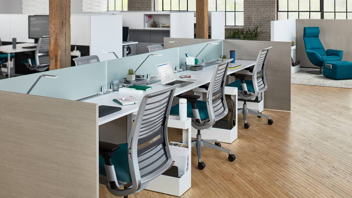 FrameOne Benching Office Workstation Steelcase