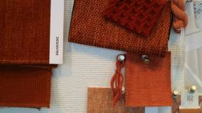 Designtex fabrics in red tones