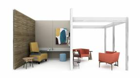 on white render of a clinician space with VIA walls