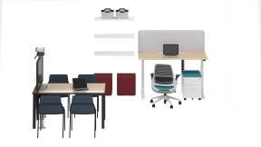 Steelcase Migration Desk, Steelcase Series 1, Steelcase Sarto Screen, Steelcase HS Storage, Steelcase B-Free Cube, Steelcase Flex Basket, Steelcase LexCo, m.a.d. Sling Chair