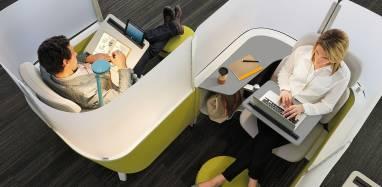 Cinco zonas en la oficina
