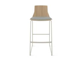 Montara650 stool with wood back and grey seat