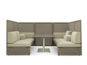 Lagunitas Booth Lounge Seating on white
