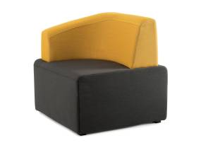 Dark gray and yellow B-Free Lounge