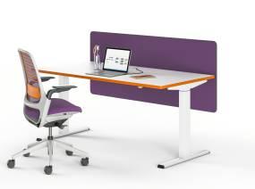 migration desk on white