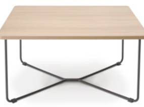 B-Free Corner Table with light wood finish
