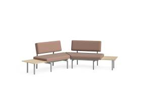 Sylvi Wedge Lounge, Rectangular Ganging Table