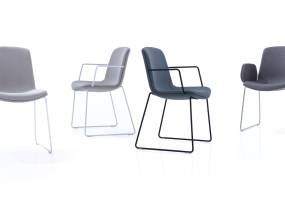 Cubb Orangebox Guest Chairs On White