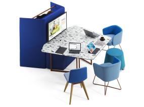 Fielding Worktables Orangebox Meeting + Classroom Tables On White