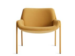 on white image of a yellow Tangent Lounge Chair