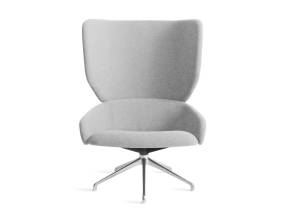 gray heads up swivel chair with metal legs