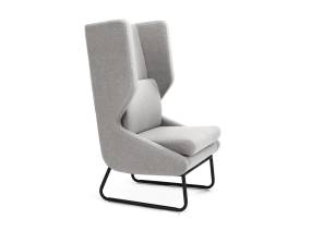 Gray Wing Lounge Chair by m.a.d. furniture on white background