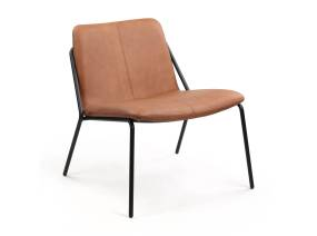 Brown Sling Lounge Chair by m.a.d. furniture on white background