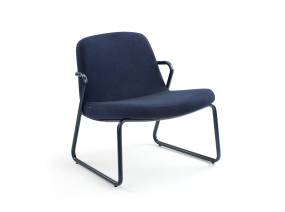 Blue Zag Lounge Chair by m.a.d. furniture on white background