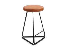 Brown Delta Stool by m.a.d. furniture