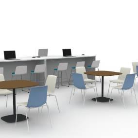 Campfire Big Table, Enea Lottus Stool, Nooi Café Chair, Enea Lottus Table Planning Idea
