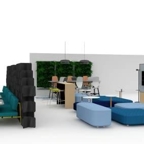 Rendering of a Upskilling Corporate Learning space