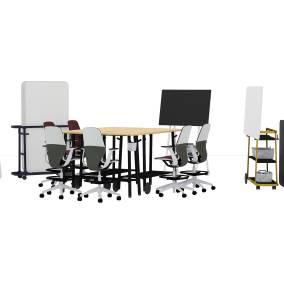 Flex Work Table, Flex Slim Table, Flex Acoustic Boundary, Flex Team Cart, Flex Board Cart, Media:scape Mobile, Microsoft Roam Cart, Flex Markerboard, Flex Stand Table, Silq Stool