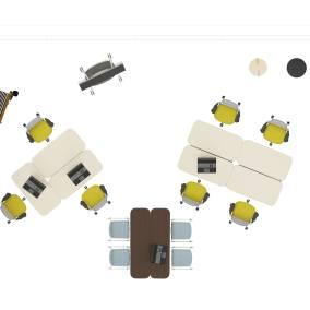 Planning Ideas Series One Chair, Flex Work Table, Flex Slim Table, Flex Markerboard, Flex Screen, Flex Stand Table, Flex Board Cart, Flex Wall Rail