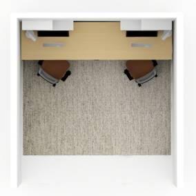 Universal Laminate Fixed Peds,Universal Straight Laminate Parametric Worksurface,Amia Air Backrest Task Chair,FLOS Tab T LED Lamp,Blu Dot Welf Shelf,Blu Dot Eeny Meeny Tiny Trays Planning Idea