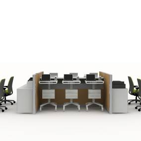 Sync Desk, Pocket Table, Montage Panel Systems, Universal System, Amia Chair Planning Idea