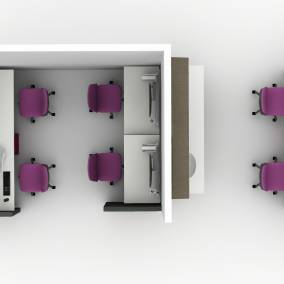 Convey Modular Casework, Montage Panel Systems, Amia Chair, Volley, Migration SE desk Planning Idea