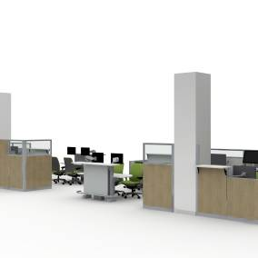 Convey Modular Casework, Montage Panel Systems, Verge Stool, Exchange Table, Migration SE Desk, Amia Chair, Pocket Table, Universal Storage, Volley Planning Idea