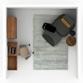 Blu Dot Swish Console Desk, Blu Dot D3 Bookcase, Steelcase Series 1,Blu Dot Daily Task Chair, Coalesse Free Stand, Coalesse Hosu Lounge Chair,Blu Dot Turn Tall Side Table,FLOS Tab F LED Floor Lamp,Blu Dot Fancy Rug,Blu Dot 2D:3D Small Bowl,Art:Addiction Planning Idea