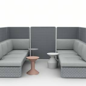 Rendering of a setting with lagunitas lounge seating