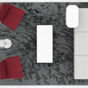 Montara650 Lounge chair, Nanimarquina Rug,CG_1 Table, Lagunitas Personal Table, Millbrae, FLOS IC Lights F1