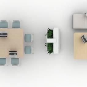 Potrero 415 Table, Lagunitas Lounge, Laguinitas work table, Montara650 Stool, Exponents whiteboard, Exponents mediaboard, FLOS Ktribe 3 Floor Lamp Planning Idea