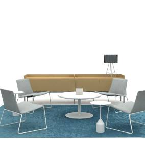Montara650 Lounge chair, Montara650 Occasional table, Denizen Credenza, Viccarbe-Burin table, Arzu Rug