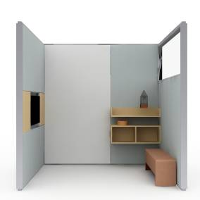 Virtual PUCK, VIA Privacy Walls, Davos Lounge Chair and media:scape Planning Idea