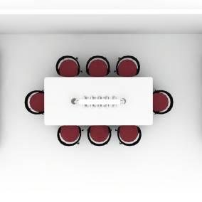 PowerPod, Exponents Credenza, Potrero415, Potrero415 Light, Millbrae Table, Lox Chair and Stool Planning Idea