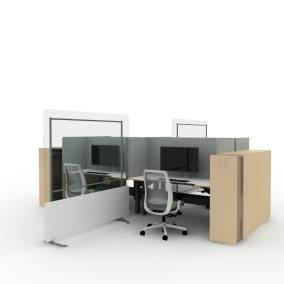 Steelcase High Density Storage, Steelcase Ology Desk, Steelcase Amia Chair,Steelcase Volley Monitor Arm, Steelcase Health Separatioon Screens, AMQ 3F Screens