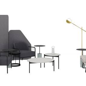 m.a.d. Wing Lounge, m.a.d. Circa Lounge, m.a.d. Pier Table, Bolia Drum Coffee table , Michael Strads Delphine Table , Steelcase Flex Mobile Power, Steelcase Flex Freestanding Screens