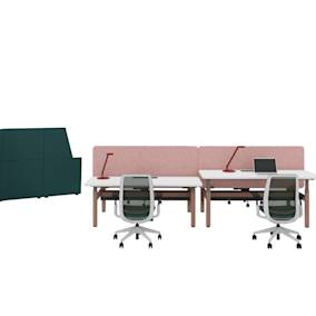 Migration SE Pro Bench, Steelcase Series 2 Taiga Concept, Viccarbe Last Minute Stool, Orangebox Away From the Desk, Orangebox Cubb Chair