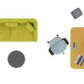 Grado Mart Sofa, m.a.d Delta Side Table, Steelcase Series 2, Steelcase Flex Tables, Steelcase Flex Collection