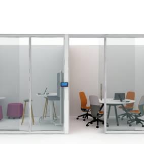 V.I.A., Potrero415 Table, SILQ Chair, Coalesse Bob Table, Orangebox Sully Stool, Coalesse Enea Café Stool, media:scape Kiosk Planning Idea