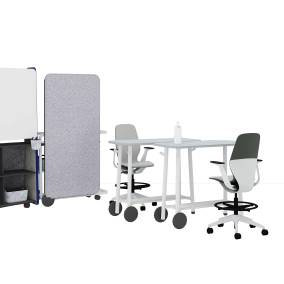 Flex Huddle Hub, Flex Tables, Flex Team art Flex Screens, Flex Stand, Sliq Stool, Flex Power, Flex Accessories