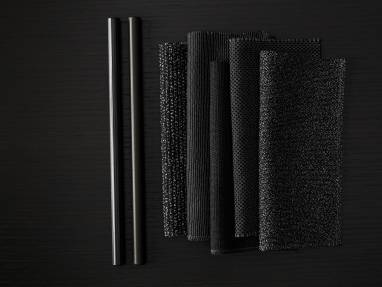 Black textiles and lux coatings from Surface Materials