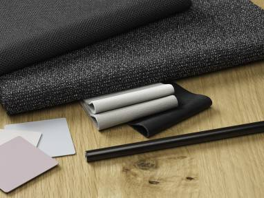 Black textiles and a black Lux Coating from Surface Materials