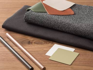 Black textiles and Lux Coatings of different colors