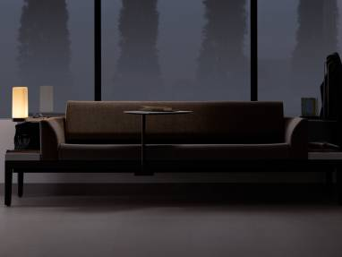 Surround lounge system in a healthcare setting at night