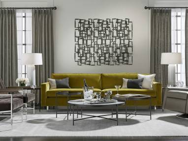 Mitchell Gold + Bob Williams furniture in a lounge setting
