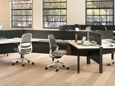 Answer Beam and Steelcase Series 1 office chair