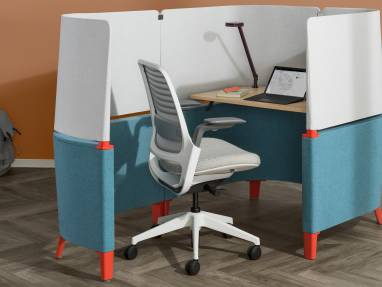 Brody office pod with small desk and office chair