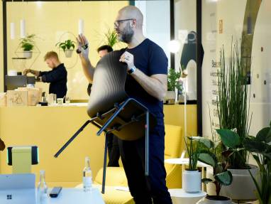 Steelcase is showing new multipurpose Chair Cavatina at Orgatec