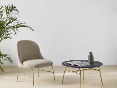 Viccarbe Imports collection featuring the Aleta Lounge Chair and table