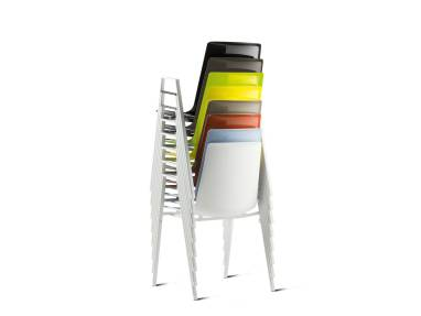 nooi stacked chair on white